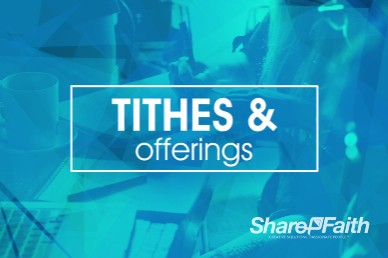 Life Groups Christian Tithes and Offerings Motion Background