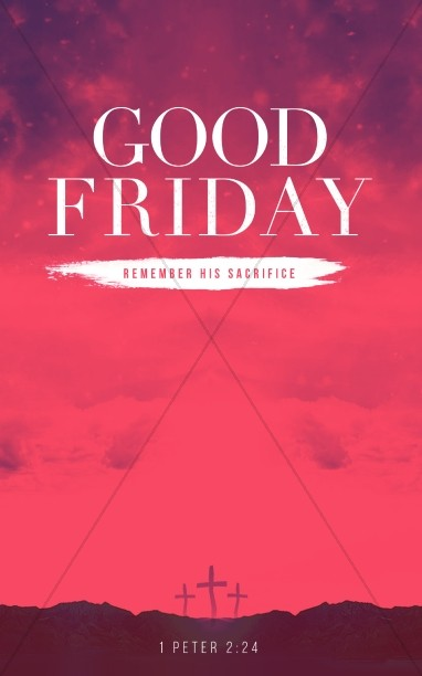 Good Friday Healed Christian Bulletin