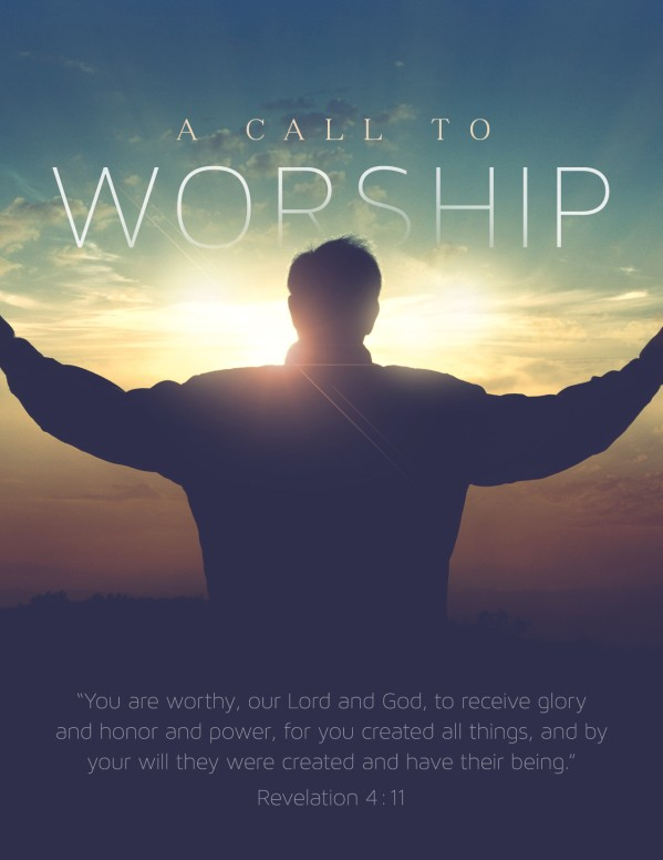 A Call to Worship Christian Flyer