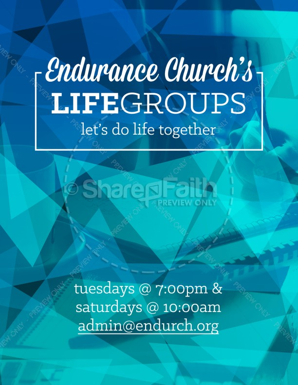 Life Groups Christian Flyer | page 1