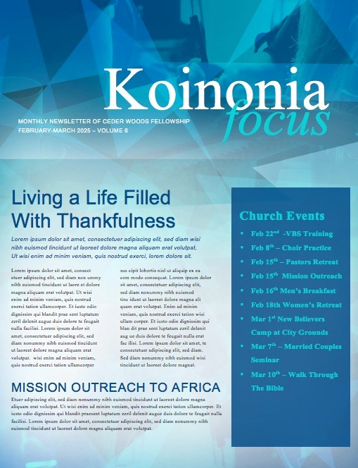 Life Groups Christian Newsletter