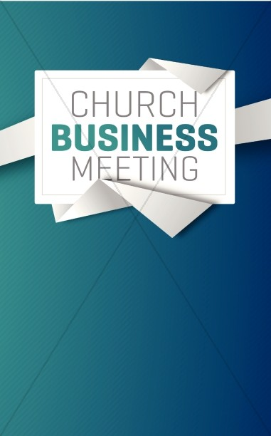 Church Business Meeting Christian Bulletin