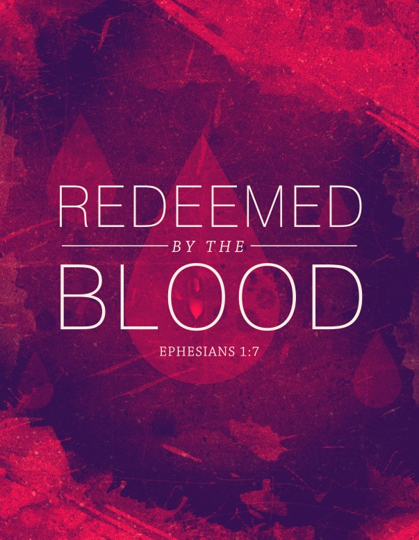 Redeemed by the Blood Religious Flyer