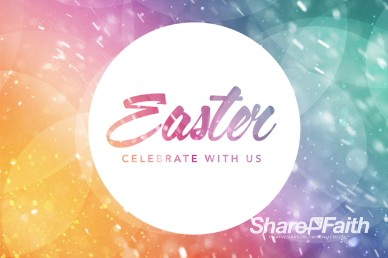 Easter Celebrate With Us Easter Welcome Video Background