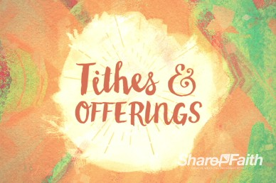 Easter Sunday Ministry Tithes and Offerings Video