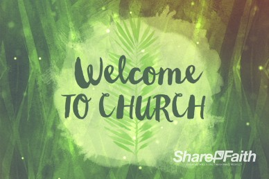 Palm Sunday Religious Welcome Video Background