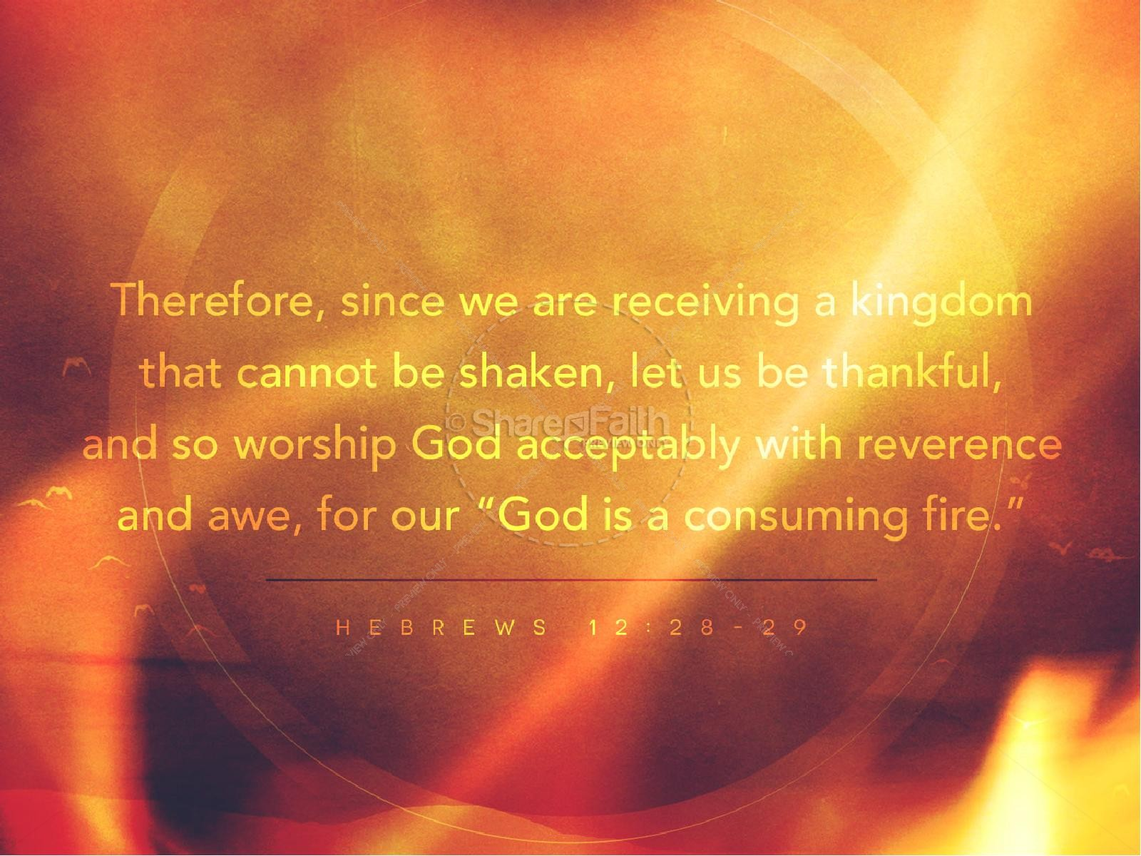 Consuming Fire Christian PowerPoint