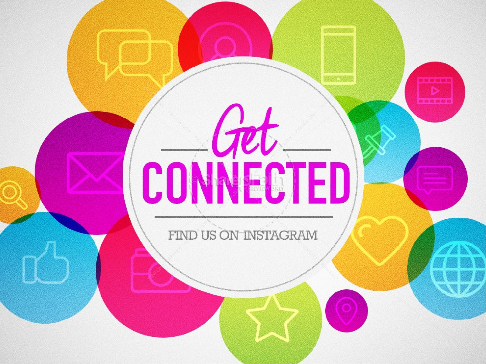 Get Connected Find Us Online Ministry PowerPoint