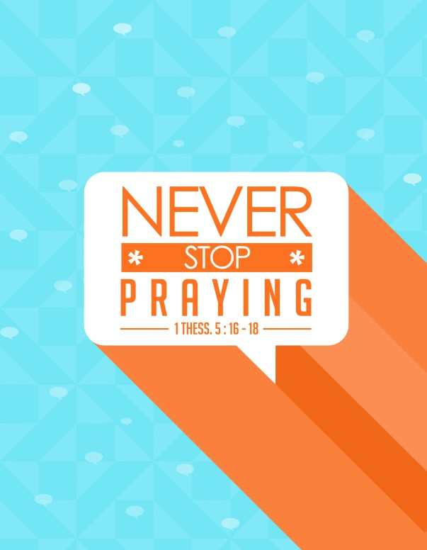 Never Stop Praying Ministry Flyer