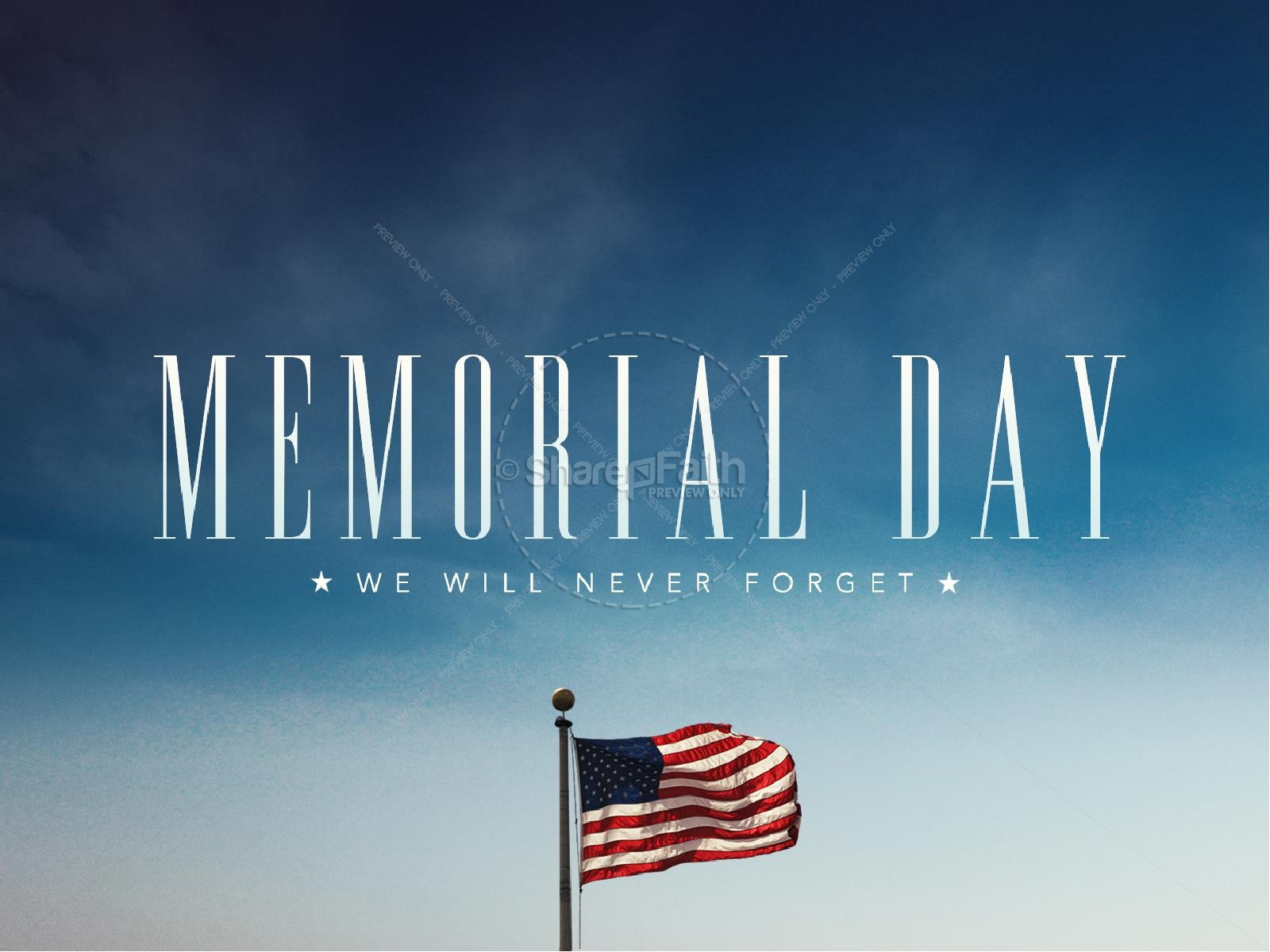 Memorial Day Never Forget Ministry PowerPoint