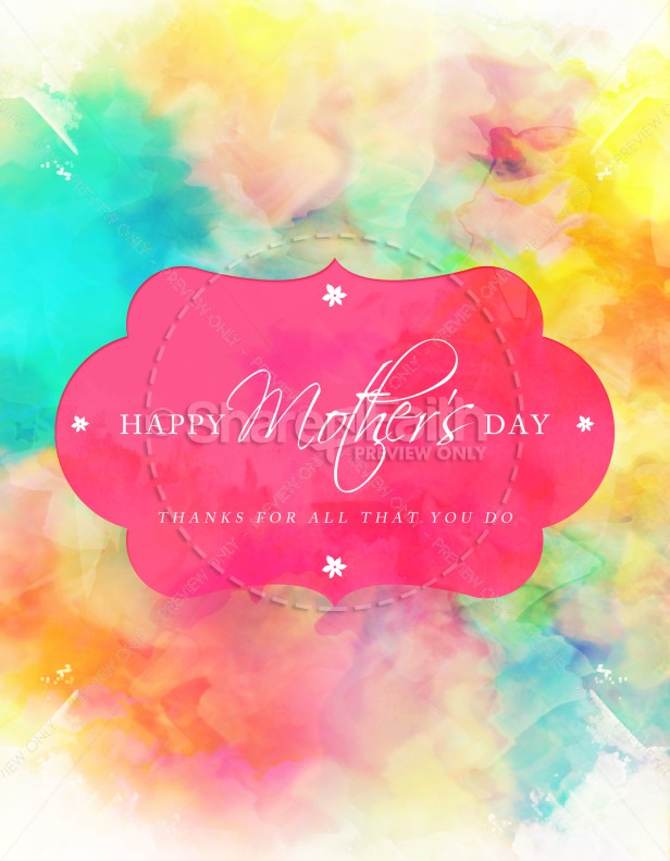 Happy Mother'S Day Thanks Church Flyer Template | Flyer Templates