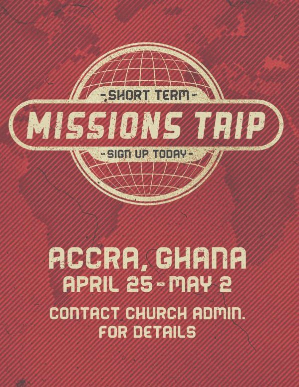 Short Term Mission Trip Religious Flyer