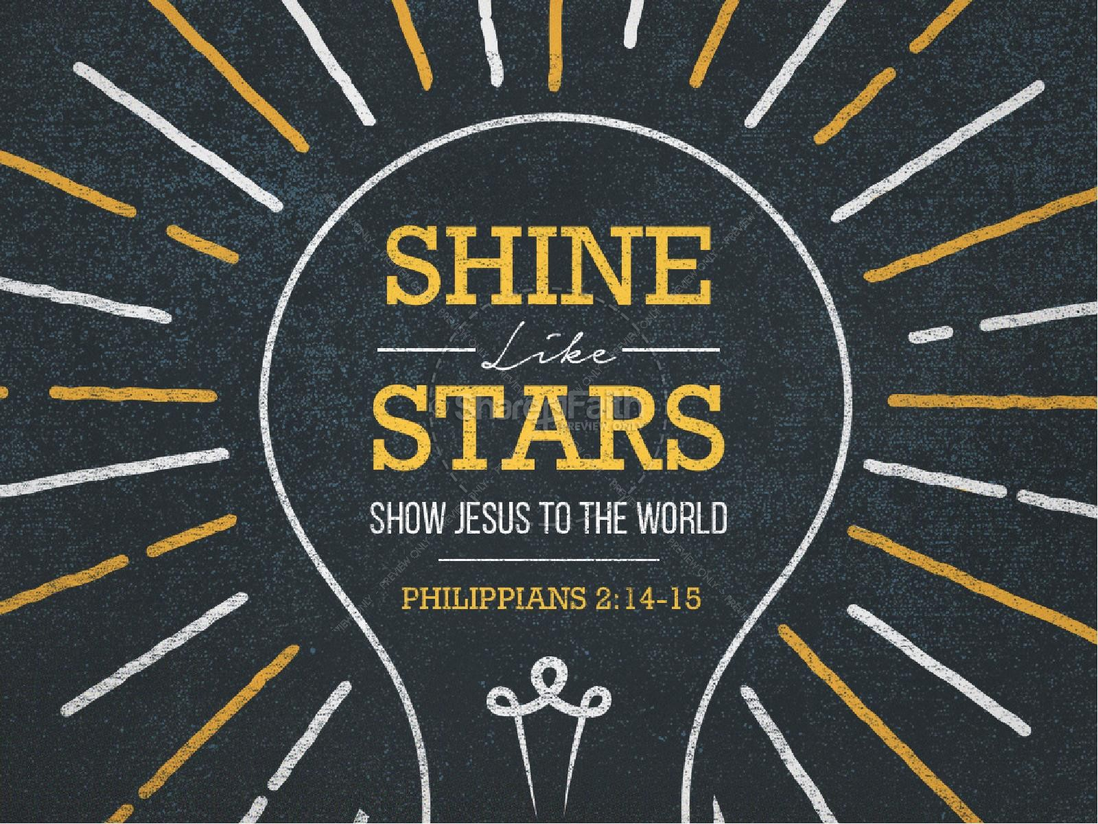 Shine Like Stars Church PowerPoint