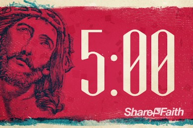 The Gospel Of Jesus Christian Five Minute Countdown Timer