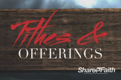 True Love Church Tithes and Offerings Motion Background