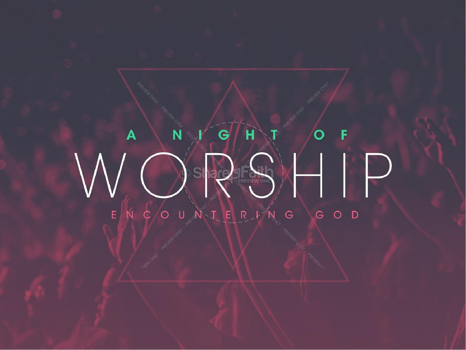 Night of Worship Church PowerPoint