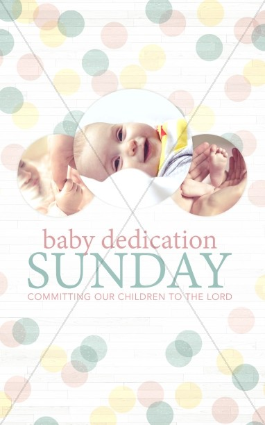 Baby Dedication Ministry Bulletin