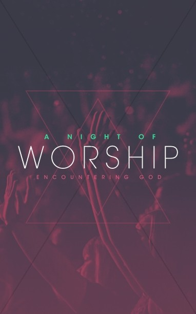 Night of Worship Church Bulletin