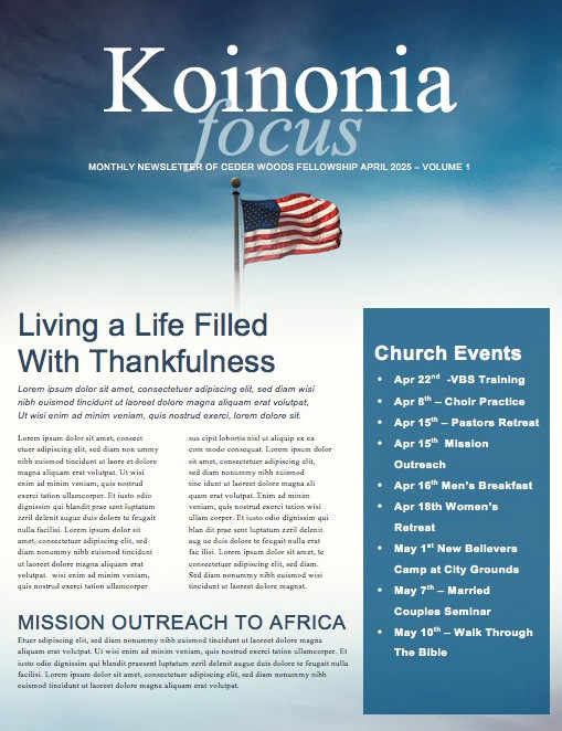 Memorial Day Never Forget Ministry Newsletter