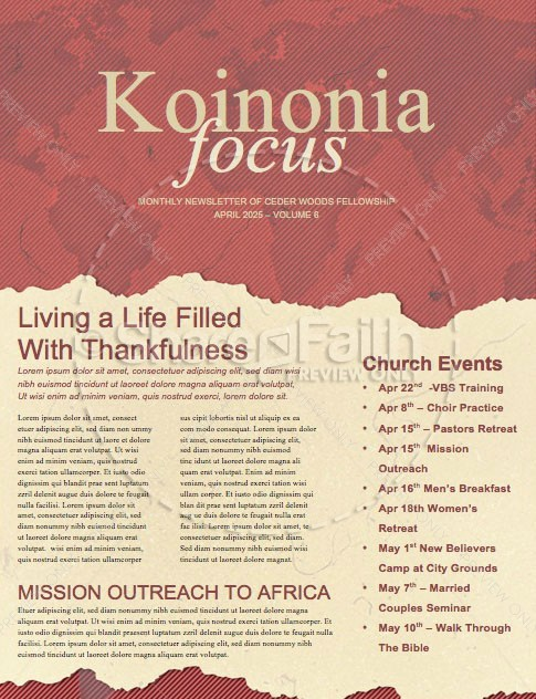 Short Term Mission Trip Religious Newsletter