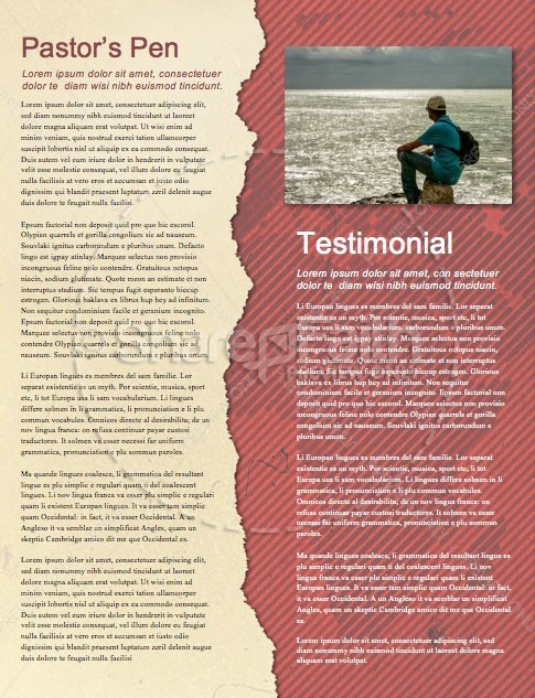 Short Term Mission Trip Religious Newsletter | page 3