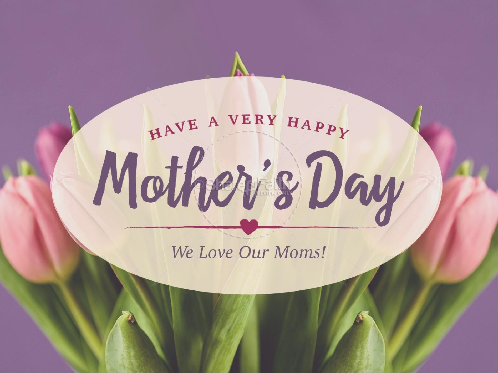 Mother's Day Tulips Religious PowerPoint