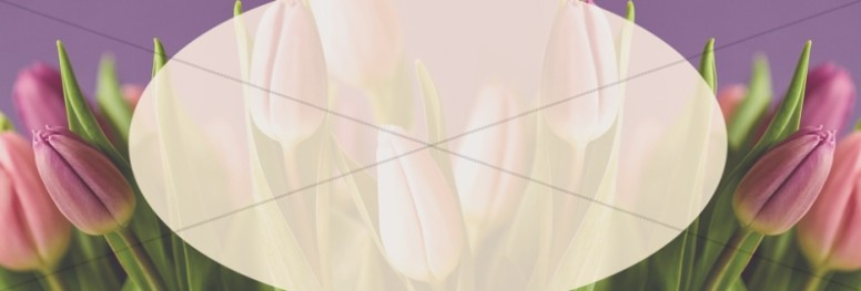 Mother's Day Tulips Religious Web Banner