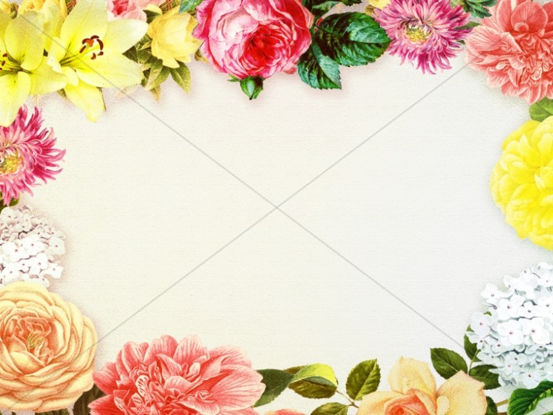 Floral Frame Worship Background