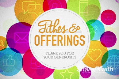 Get Connected Find Us Online Ministry Tithes and Offerings Motion Background