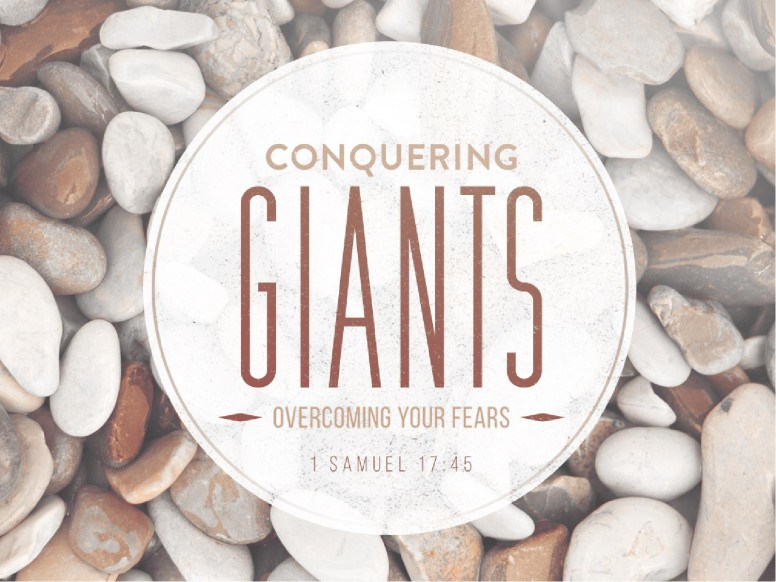 Conquering Giants Overcoming Fear Religious PowerPoint