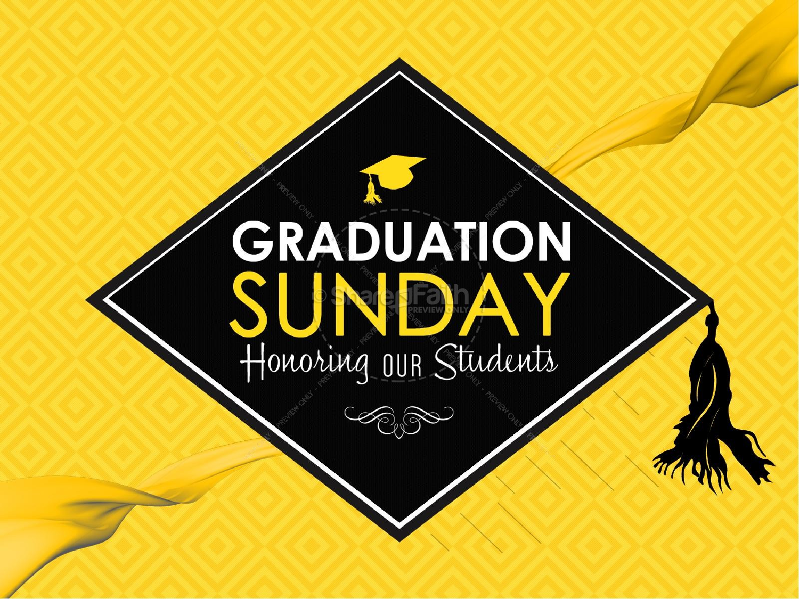 Graduation Sunday Honoring Church PowerPoint | Graduation ...