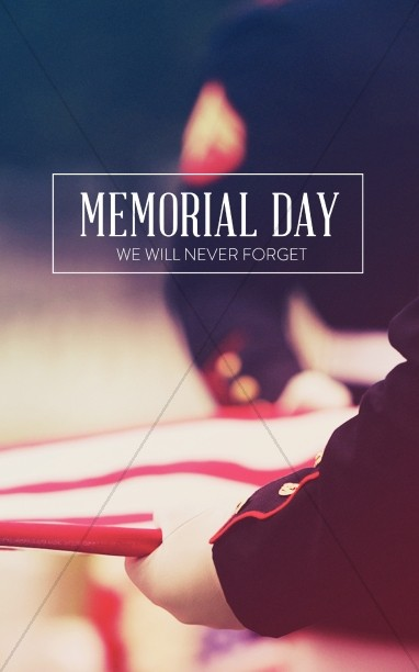 Memorial Day Never Forget Church Bulletin