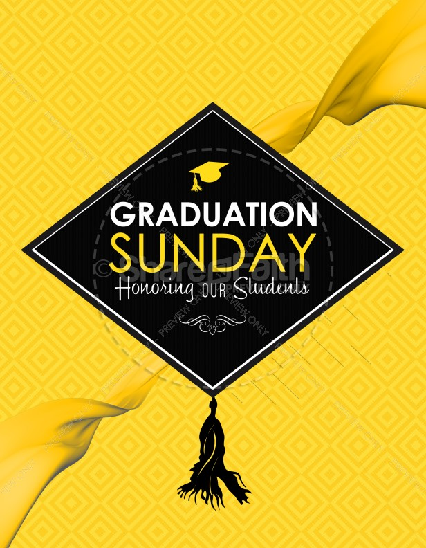 Graduation Sunday Honoring Church Flyer Template  Flyer Templates