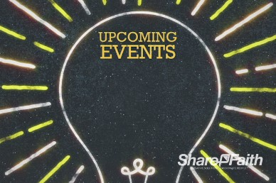 Upcoming Events Light Church Motion Video Loop