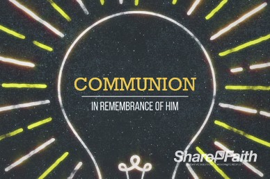 Communion Light Church Motion Video Loop
