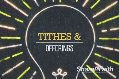 Tithes and Offering Light Motion Video Loop
