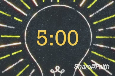 5 Minute Countdown Light Church Motion Video Loop