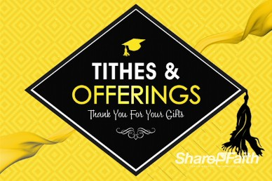 Graduation Sunday Honoring Church Tithes and Offerings Video