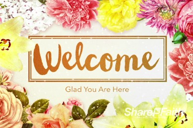 Very Floral Mothers Day Ministry Welcome Motion Video Loop