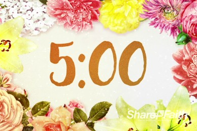 Very Floral Mother's Day Video Countdown Timer