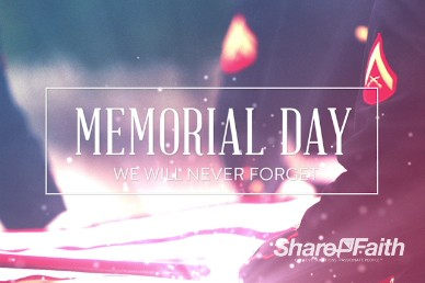 Memorial Day Never Forget Church Welcome Video Background