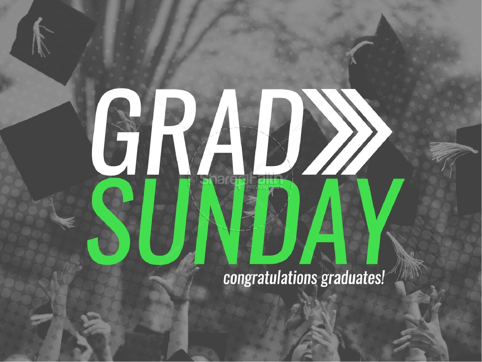 Grad Sunday Religious PowerPoint | Graduation Day PowerPoints