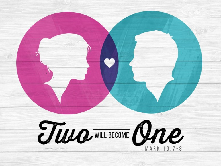 Two Will Become One Christian PowerPoint Template