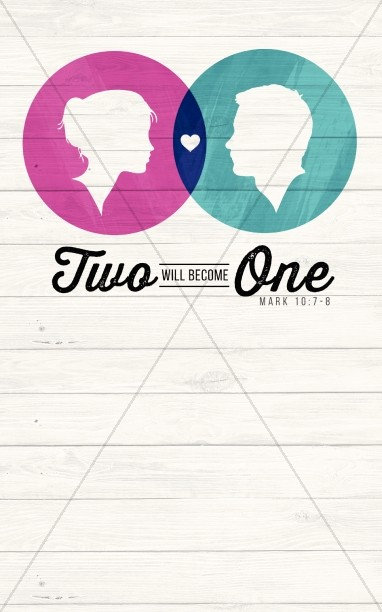 Two Will Become One Christian Bulletin