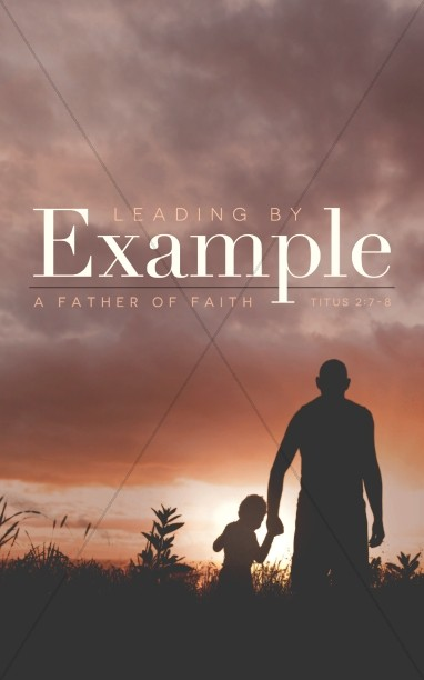 Leading by Example Father's Day Church Bulletin