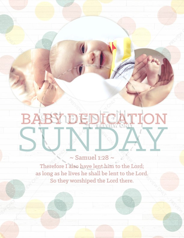 Baby Dedication Ministry Flyer