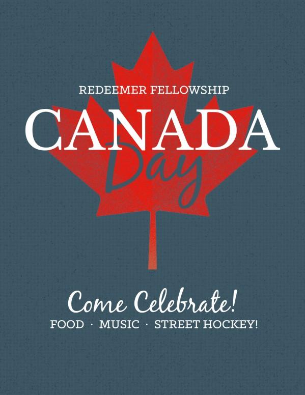 Canada Day Church Flyer