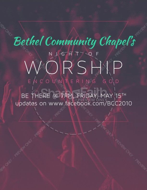 Night of Worship Church Flyer
