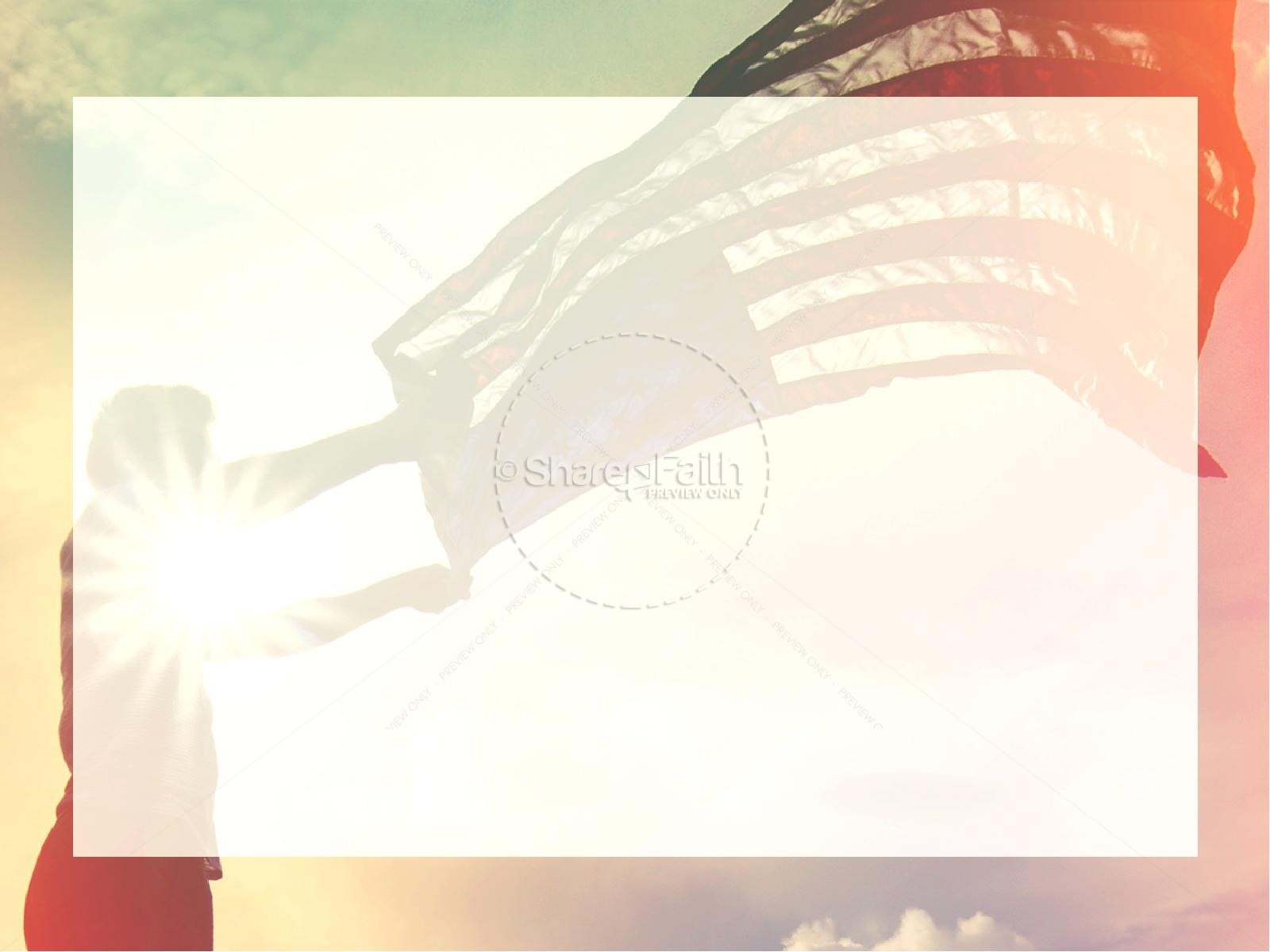 Independence Day Flag Religious PowerPoint