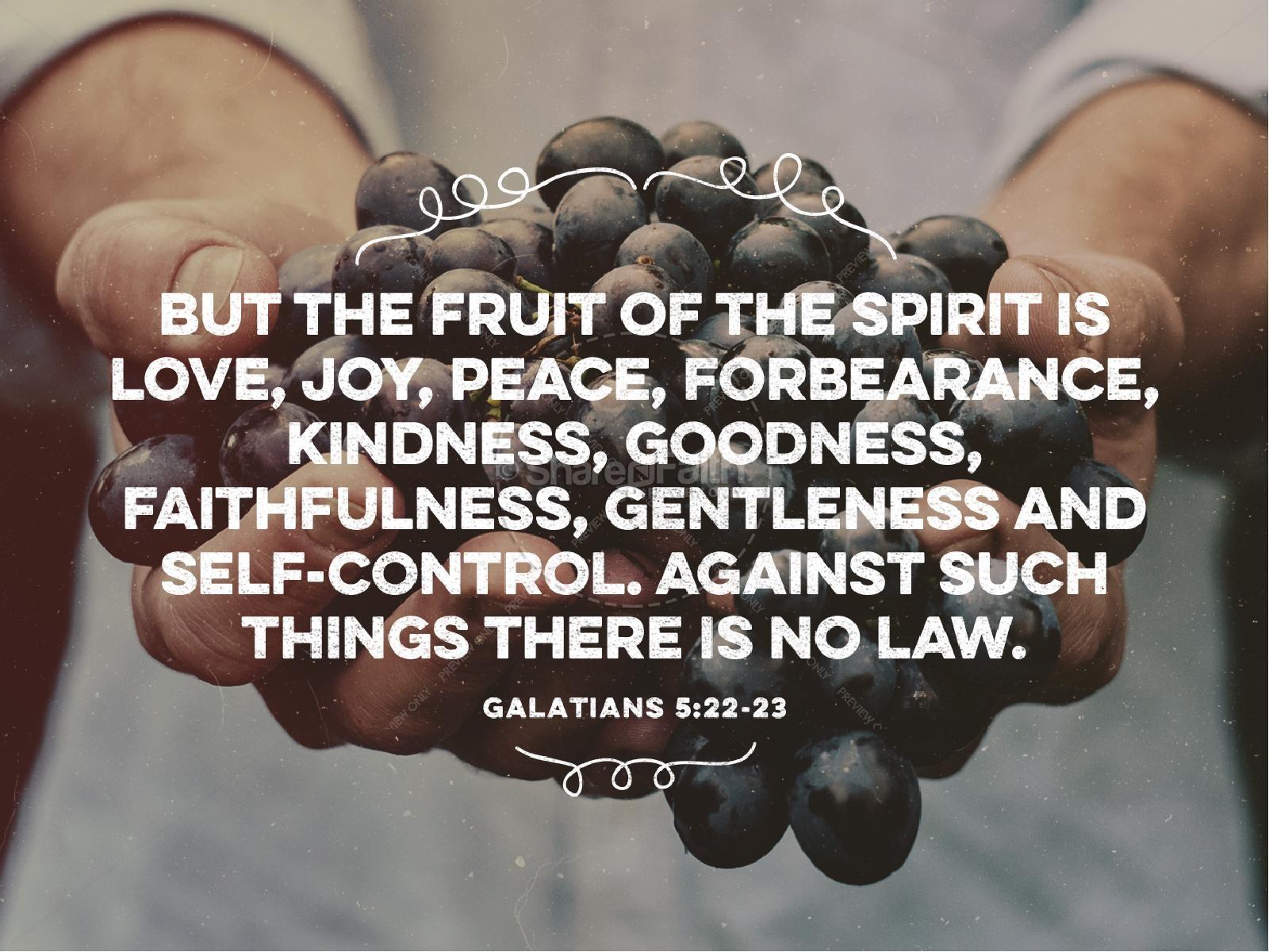 The Fruit of the Spirit Religious PowerPoint | slide 4